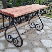 Benches from metal production - 4 photos