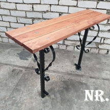 Benches from metal production - 3 photos