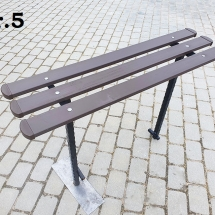 Benches from metal production - 5 photos
