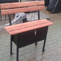 Benches from metal production - photos