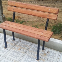 Benches from metal production - 2 photos