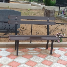 Benches from metal production - 6 photos