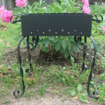 Decorative brazier for a garden and a country house