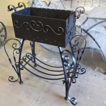 Decorative brazier with a wood